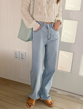 River wide denim pants_B (size : S,M,L)