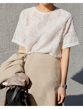 Fly round half blouse_K (size : free)