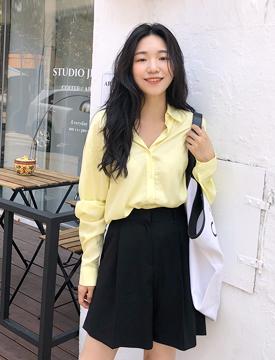 Autumnal rayon shirts_B (size : free)
