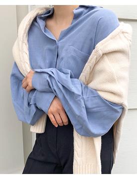 Silky pocket loose blouse_K (size : free)