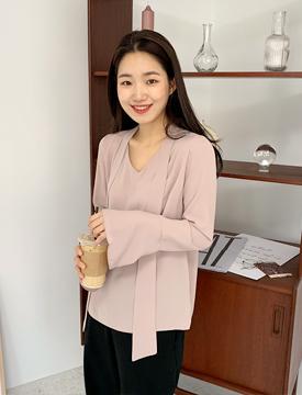 Anderson tie blouse_Y  (size : free)