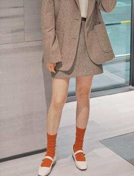 Mono herringbone mini skirt_K (울 60%) (size : S,M)