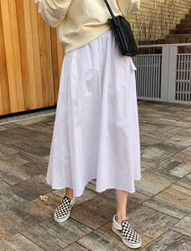 Lily cotton flare skirt_S (size : free)