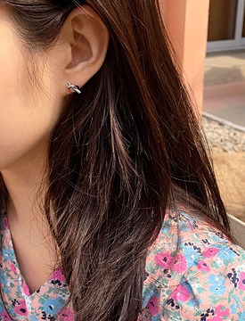 Mini rope knot earring_M (size : one)