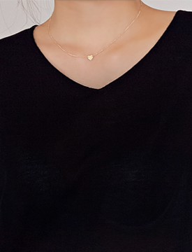 Sweet mini heart necklace_B (size : one)