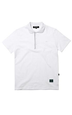 와키바키 WA자수 반팔 카라 티셔츠(White)