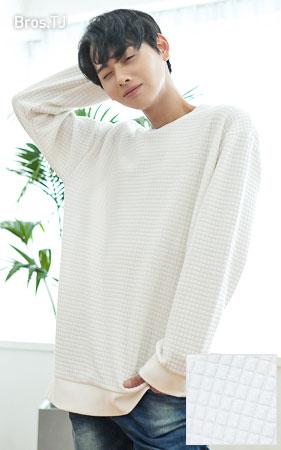 엠보 맨투맨 티셔츠