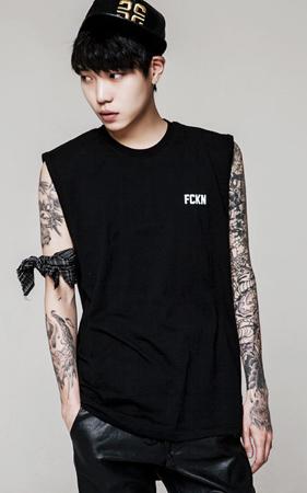 FCKN 나염 라운드 나시