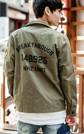 브레이크 야상 자켓