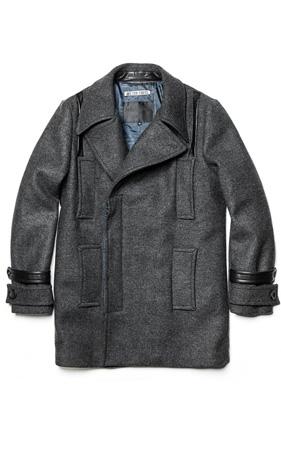 와키바키 멀티포켓 소매배색 코트