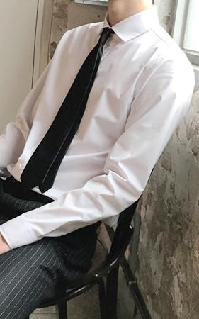 와이드카라 드레스 셔츠