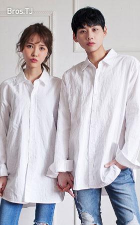 레이어드 롱셔츠