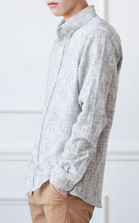 투포켓 슬라브 체크 셔츠[ 2 color , M/ L/ XL ]