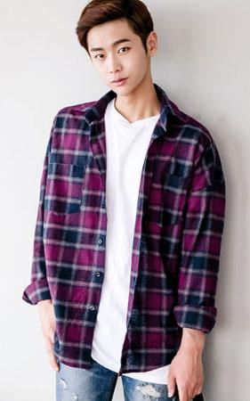 오버핏 타탄체크 셔츠