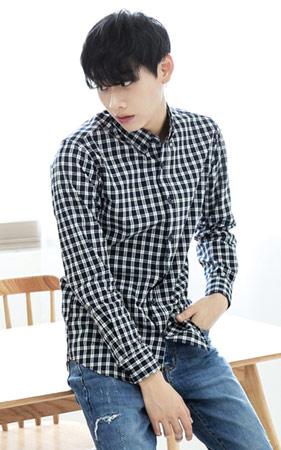 블록 타탄체크 셔츠
