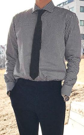 콘트라 깅엄체크 셔츠