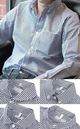 4type 스트라이프 드레스 셔츠