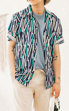 레이져 스트라이프 셔츠