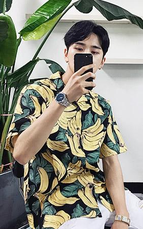 바나나 하와이안 셔츠