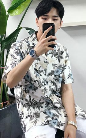 야자수 하와이안 셔츠
