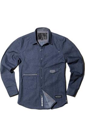 와키바키 루즈핏 데님셔츠
