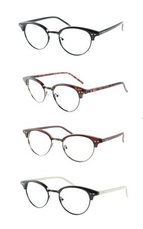 라운드 하프 안경