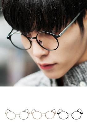 라운딩 스틸 안경