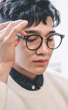 헤르페 뿔테 안경