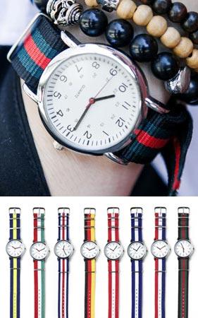 컬러 나토밴드 시계