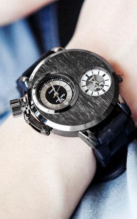 러버스트랩 손목시계