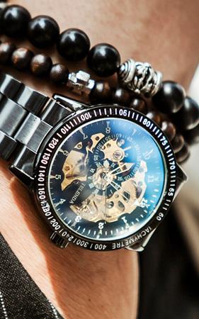 오토매틱 사파이어 손목시계