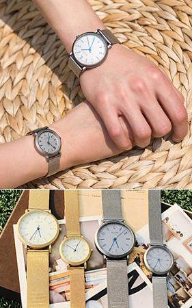 우리가치 커플 손목시계