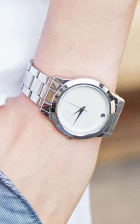 심플리 메탈 커플 시계